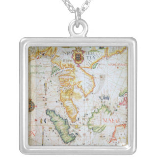 Mainland Southeast Asia, detail from world atlas Silver Plated Necklace