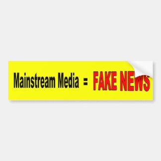 """""""Mainstream Media = FAKE NEWS"""" Bumper Sticker"""