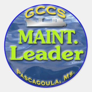 Maint.Leader2 Classic Round Sticker