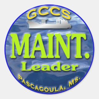 Maint.Leader copy Classic Round Sticker