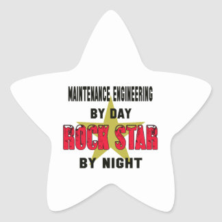 Maintenance engineering by Day rockstar by night Star Sticker