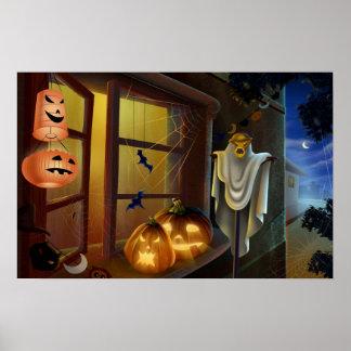 Maison pour Halloween - Poster