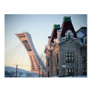 Maisonneuve market and Olympic stadium Postcard