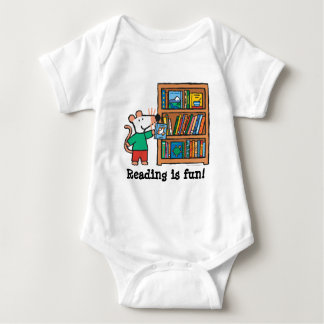 Maisy and a Bookshelf of Books Baby Bodysuit