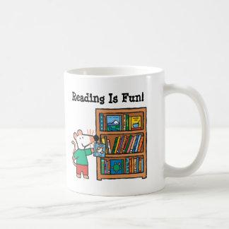 Maisy and a Bookshelf of Books Coffee Mug