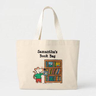 Maisy and a Bookshelf of Books Jumbo Tote Bag