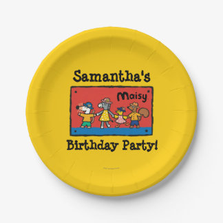 Maisy and Best Friends Hold Hands 7 Inch Paper Plate