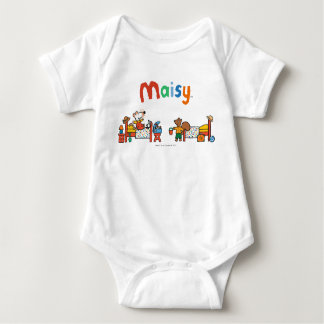 Maisy and Cyril Go on Vacation Scene Baby Bodysuit