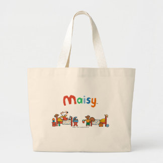 Maisy and Cyril Go on Vacation Scene Large Tote Bag