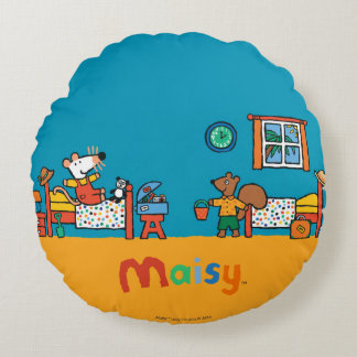 Maisy and Cyril Go on Vacation Scene Round Cushion