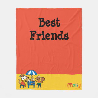 Maisy and Cyril Snacktime at the Beach Fleece Blanket