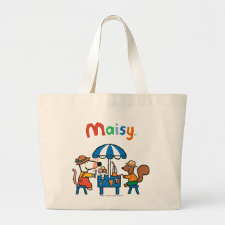 Maisy and Cyril Snacktime at the Beach Jumbo Tote Bag