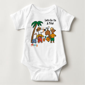 Maisy and Cyril with Palm Tree at the Beach Baby Bodysuit