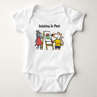 Maisy and Dotty Paint at Preschool Baby Bodysuit