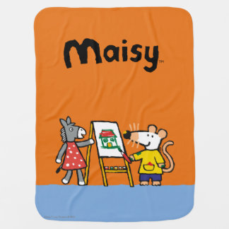 Maisy and Dotty Paint at Preschool Buggy Blanket