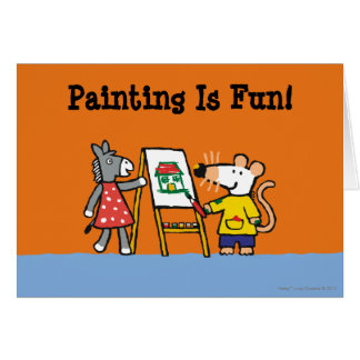 Maisy and Dotty Paint at Preschool Card