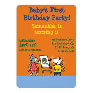 Maisy and Dotty Paint at Preschool Card