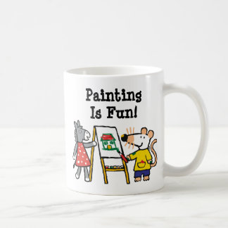 Maisy and Dotty Paint at Preschool Coffee Mug