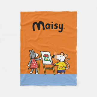 Maisy and Dotty Paint at Preschool Fleece Blanket