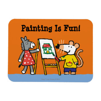 Maisy and Dotty Paint at Preschool Magnet