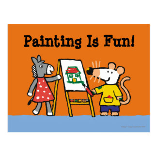 Maisy and Dotty Paint at Preschool Postcard