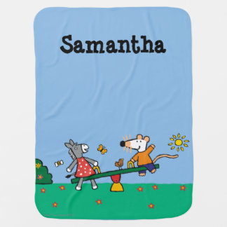 Maisy and Dotty Seesaw at the Playground Baby Blankets