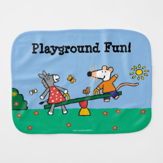 Maisy and Dotty Seesaw at the Playground Burp Cloth