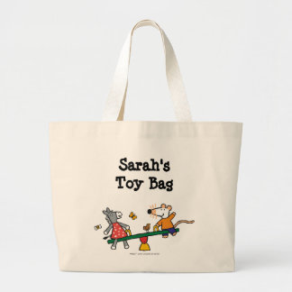 Maisy and Dotty Seesaw at the Playground Large Tote Bag