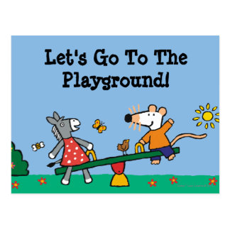 Maisy and Dotty Seesaw at the Playground Postcard