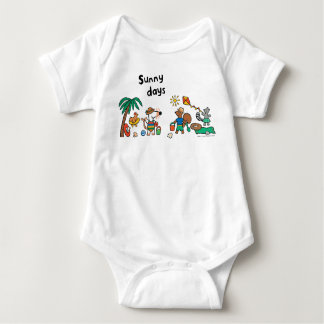 Maisy and Friends at the Beach Baby Bodysuit