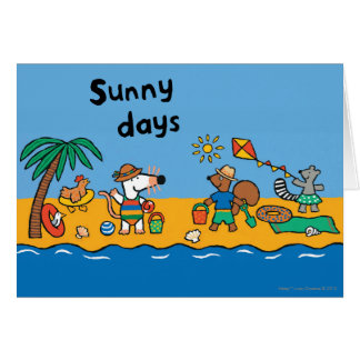 Maisy and Friends at the Beach Card
