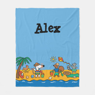Maisy and Friends at the Beach Fleece Blanket