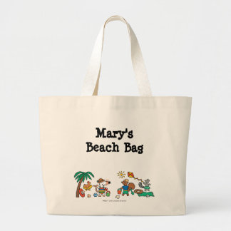 Maisy and Friends at the Beach Large Tote Bag
