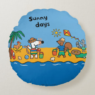 Maisy and Friends at the Beach Round Cushion