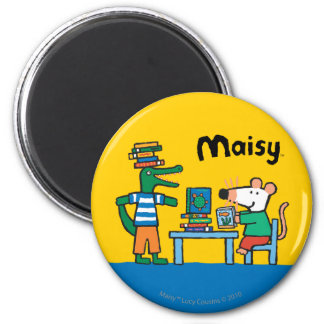 Maisy and Friends Enjoy the Library 6 Cm Round Magnet