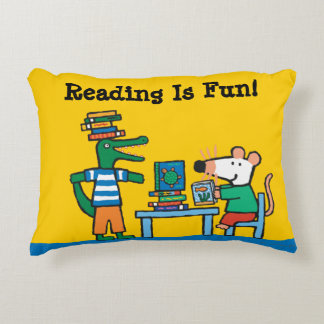 Maisy and Friends Enjoy the Library Decorative Cushion
