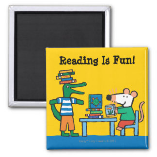 Maisy and Friends Enjoy the Library Square Magnet