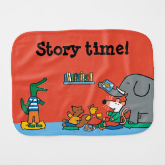 Maisy and Friends Laugh at Story Time Burp Cloth