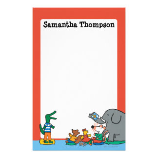 Maisy and Friends Laugh at Story Time Customized Stationery