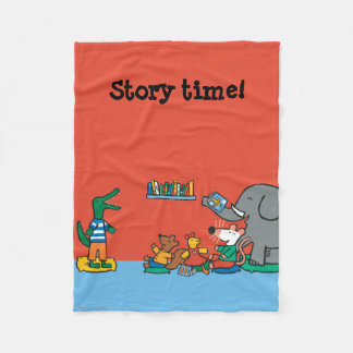 Maisy and Friends Laugh at Story Time Fleece Blanket