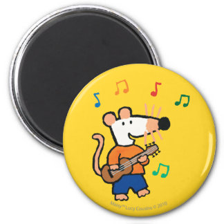 Maisy and Friends Play in the Band 6 Cm Round Magnet