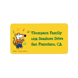 Maisy and Friends Play in the Band Address Label