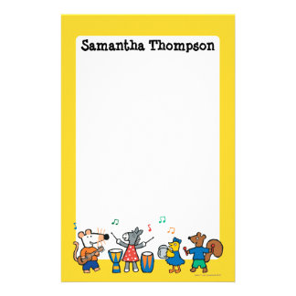 Maisy and Friends Play in the Band Customized Stationery