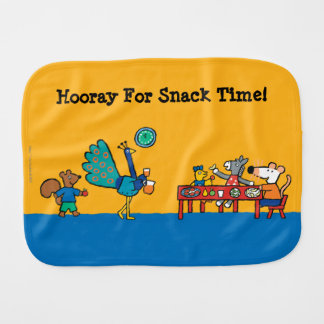 Maisy and Friends Preschool Snack Time Burp Cloth