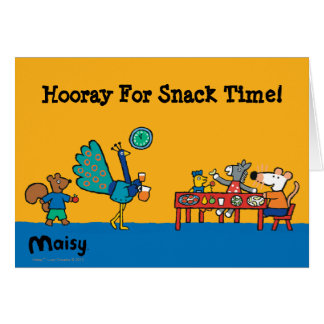Maisy and Friends Preschool Snack Time Card