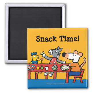 Maisy and Friends Preschool Snack Time Square Magnet