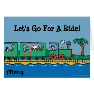 Maisy and Friends Ride on Green Train Card