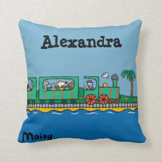 Maisy and Friends Ride on Green Train Cushion
