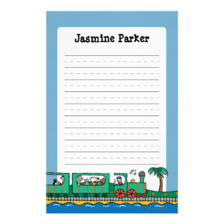 Maisy and Friends Ride on Green Train Stationery