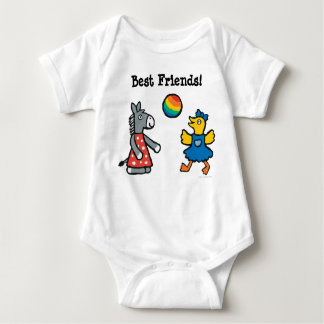 Maisy at Preschool with Friends on the Playground Baby Bodysuit